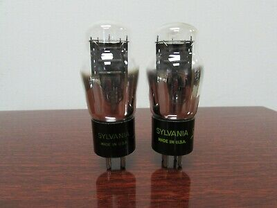 Matched Pair Of Sylvania Type 26 Vacuum Tubes (Bjr2140)