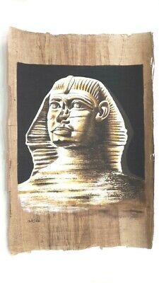Egyptian Papyrus Paper sphinx Ancient Hand Painting ,Pharaoh Antique (40x60cm )