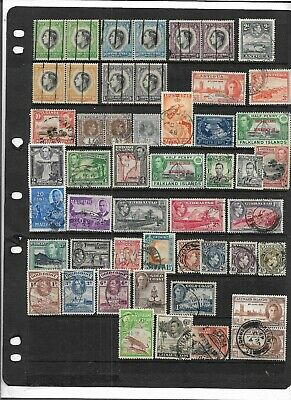Old British Empire King George Vi All Different Used Collection