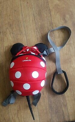 Littlelife Minnie Mouse Backpack Reins With Parent Strap
