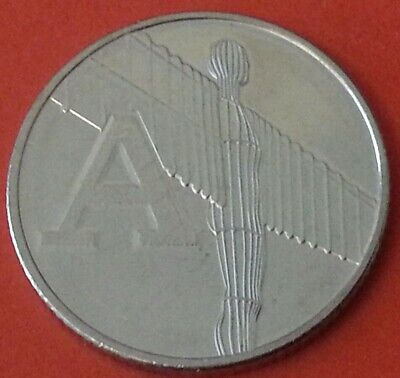NEW A-Z 2019 ALPHABET10p COIN HUNT LETTER A  Angel of North  UNCIRCULATED s/bags