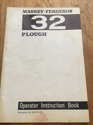 Tractor Manuals & Publications Other Tractor Publications Massey Ferguson 32 Plough Operator Instruction Book