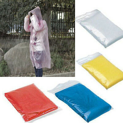 Disposable Raincoat Waterproof Emergency Poncho Cape Adult Camping Festival PK