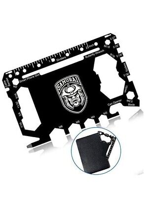 43-in-1 Wallet Multitool Card, Cool Gadgets for Men,  Black Edition