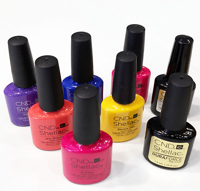 CND Shellac Nail Polish UV Gel Nail colours Assorted colours 14+ Days 7.3mls