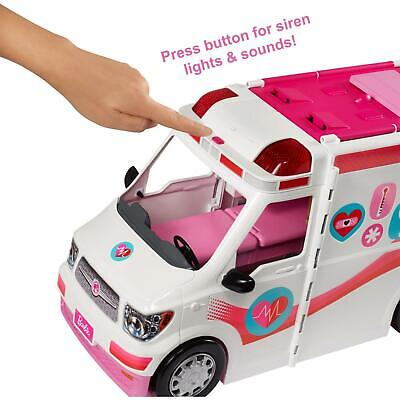 Barbie 2-in-1 Fun Playset for Ages 3Y+ Care Clinic Van Hospital SUV Ambulance