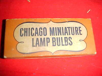 10 NOS CHICAGO # 27 SCREW MINIATURE Flash LIGHT Railroad Lantern Radio Amp Bulbs