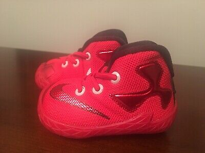 fd161fa1b40 NIKE BABY SHOES LEBRON SOLDIER XI TD Size 5 C Black-white-red  55 ...