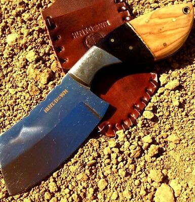 "Hunt Down 9"" Fixed Blade Hunting Survival Knife Full Tang Bone Handle + Sheath"