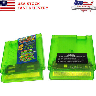 US Super Games 500 in 1 NTD NES Cartridge Multicart - Newest Version!