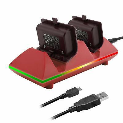 MoKo Xbox One/One S Controller Charger Dock Kit 2 x 800mAh Rechargeable Battery