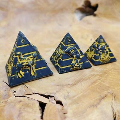 3 Amazing Solid Hand Carved of Ancient Egyptian Pyramids...Antique GIFT SET