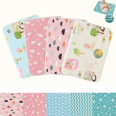 Baby Infant Waterproof Urine Mat Diaper Nappy Newborn Change Cover Pad 50*70cm