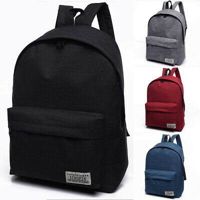 AU Canvas Men's Women Bag Backpack Rucksack Shoulder Travel School Book Bags