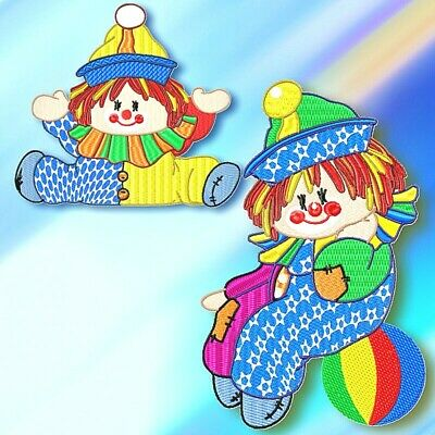 LITTLE CLOWN 10 MACHINE EMBROIDERY DESIGNS CD or USB
