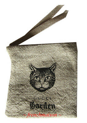 8aece6ac7a76cb AUTHENTIC GUCCI Garden CAT POUCH Florence from Italy Italian Designer GIFT  New
