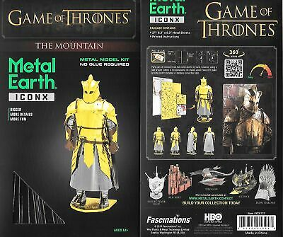 Game of Thrones The Mountain Metal Earth ICONX 3D Steel Model Kit NEW SEALED