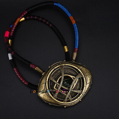 Doctor Strange Eye Of Agamotto 1/1 Night Light Painted Metal Necklace Collection