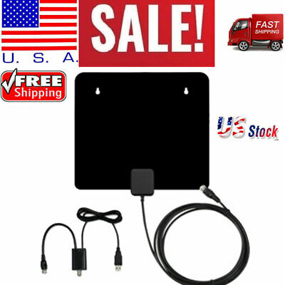 50 Miles Clear Indoor Digital TV HDTV Antenna [2019 Latest]UHF/VHF/1080p 4K US C
