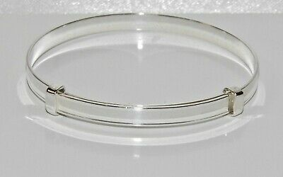 NEW Solid Sterling Silver 925 Expanding Baby Bangle -