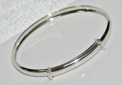 NEW Solid Sterling Silver 925 Expanding Baby Bangle ~