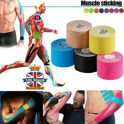UK Sports Kinesiology Tape Elastic Physio Muscle Tape PRO Pain Relief Support 5M