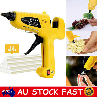 100W Glue Gun Electric Heating Craft Hot Melt Glue Gun + 12 Glue Sticks DIY Set