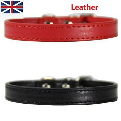 Personalised Rolled Leather Ancol Heritage Finest Quality Dog Puppy Collars Usef