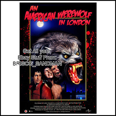 Fridge Fun Refrigerator Magnet AMERICAN WEREWOLF LONDON MOVIE POSTER Version C