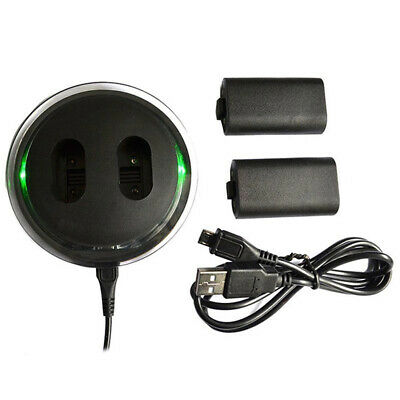 For XBOX ONE Controller Play Charging Dock + 2 Pack Rechargeable Battery DC5V