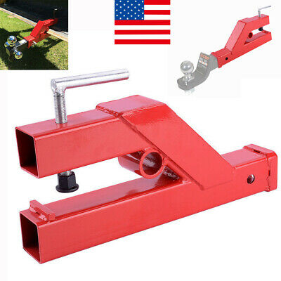 """USA Clamp On Trailer Hitch 2"""" Ball Mount Receiver Deere Bobcat Tractor Bucket"""