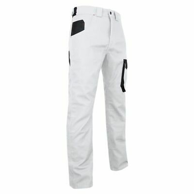 """Mens Painters Work Trousers White Lightweight Durable Industrial 30-43"""""""