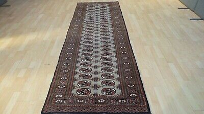 """ORIENTAL HALL RUNNER CARPET RUG antique WOOL Traditional BOKHARA 9FT 1"""" X 3FT"""