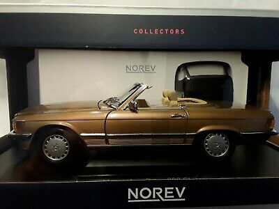 Mercedes-Benz 300 SL * 1986 gold metallic * 1:18  Norev 183514