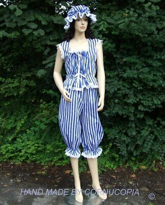 Ladies Victorian / Edwardian 3 pc bathing costume  fancy dress