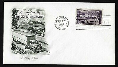 #1025 3c American Trucking Industry - Artmaster FDC
