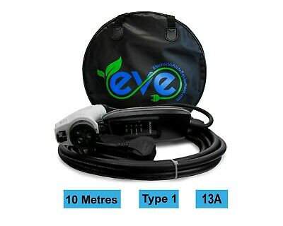 EV Charging Cable, Type 1, UK 3 pin plug 10m, Portable charger
