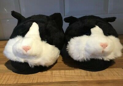 Aroma Home Black Cat Slippers
