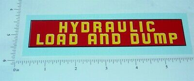 Structo Hydraulically Operated Truck Sticker     ST-047
