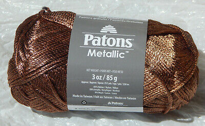 PATONS METALLIC YARN in GOLD - Gorgeous Shimmer, New, Smoke Free Home