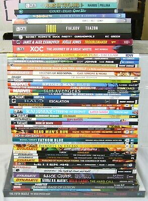 Wholesale lot of (50) TPBs - marvel/dc/more  spider-man blue - (value: $853.54)1