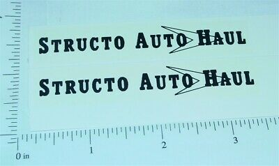 red//blk Structo Auto Transport Stickers        ST-071