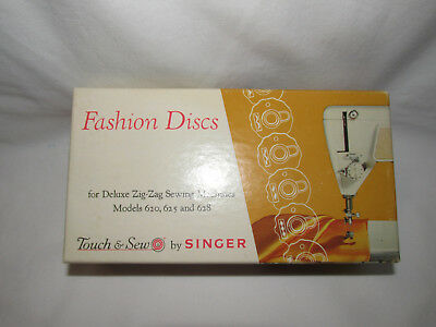 Vintage Singer Touch & Sew Fashion Discs Deluxe 21976 Zig Zag Models 620 625 628