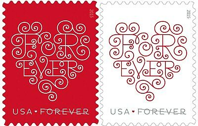 500 USPS Forever Stamps (Red & White Love Hearts) ***FREE SHIPPING***