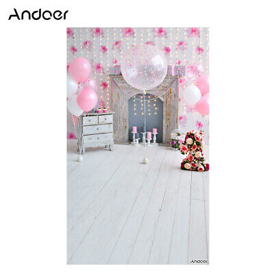 Andoer 1.5 * 0.9m/5 * 3ft Birthday Party Photography Background Pink W7N8
