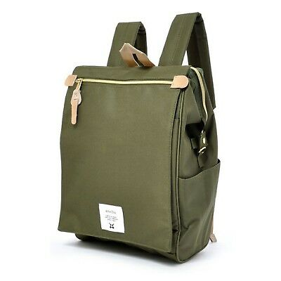 Leaf Green Anello Japan Fashion Flip Cover Backpack Rucksack Diaper Travel Bag