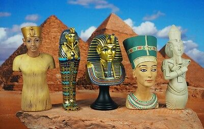 Egypt Egyptian Civilization King Tut Nefretiti Mummy Cake Topper Figure K1166 5p