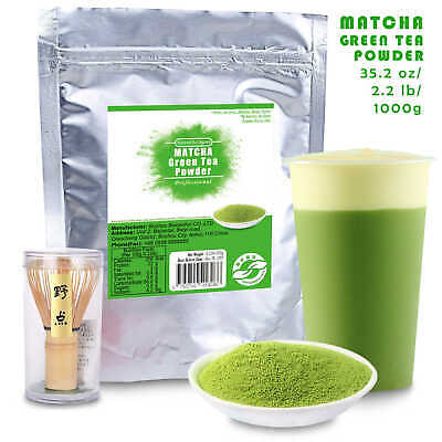 100% Pure Matcha Green Tea Powder 1Kg+ Japanese Ceremony Chasen Whisk
