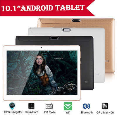 NEW 10.1'' Tablet PC 4+64GB Android 7.0 Octa-Core 2 SIM & Camera Wifi Phablet UK