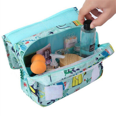 Folding Portable Waterproof Cosmetic Bag Hanging Travel Toiletry Bag C